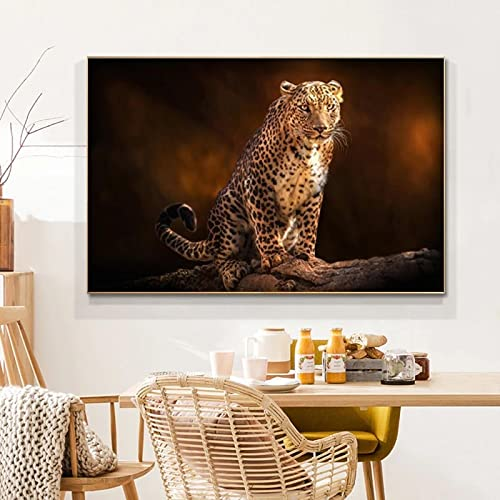 Wild Animals African Leopard Canvas Painting Posters and Prints Wall Art Pictures Living Room Room...