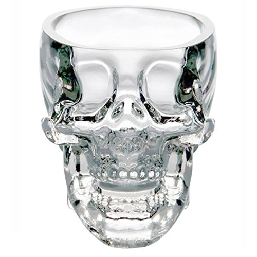 Glow Castle Creative skull glass creative skull cup vodka spirits cup glass new Crystal Skull cup...