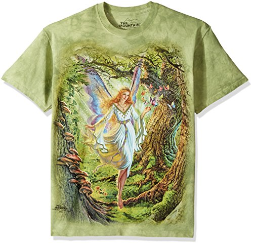 The Mountain Fairy Queen Adult T-Shirt, Green, Small