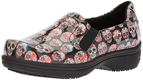 Easy Works Women's Bind Health Care Professional Shoe, Skull Patent, 8.5 Wide