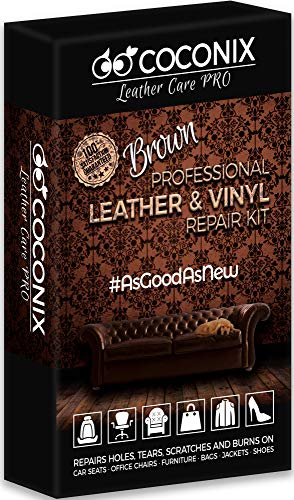 COCONIX Brown Leather and Vinyl Repair Kit - Restorer of Your Couch, Sofa, Car Seat and Your Jacket...