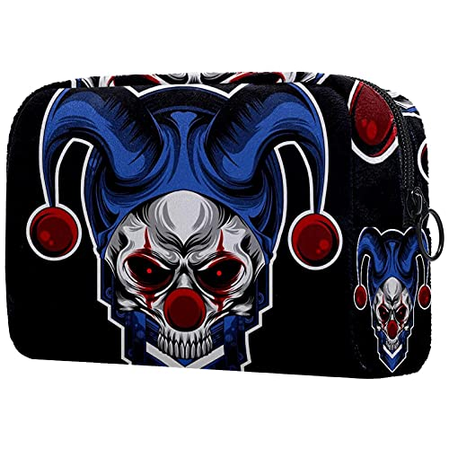 Makeup Bag for Purse Oxford Cloth Travel Cosmetic Pouch Ugly Funny Skull Toiletry Bag for Women...