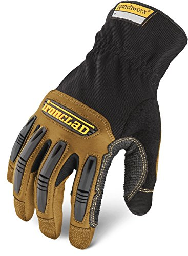 Ironclad Ranchworx Work Gloves RWG2, Premier Leather Work Glove, Performance Fit, Durable, Machine...