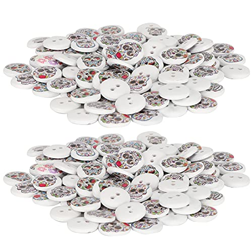DIY Button Decor, Painted Button Sewing Accessories for Crafts Making Clothing Sewing