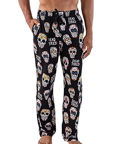 Lazy One Pajama Pants for Men, Men's Separate Bottoms, Lounge Pants, Sugar Skull, Day of The Dead...