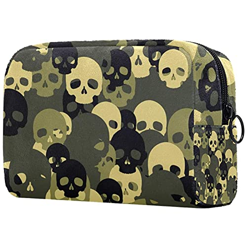 Makeup Cosmetic Bag Coin Purse Travel Cosmetic Pouch Toiletry Bag sugar skull camouflage pattern