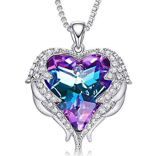 CDE Necklaces for Women Embellished with Austrian Crystals Pendant Necklace Heart Of Ocean...
