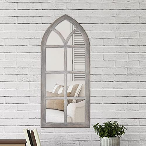 Fiscus Windowpane Wall Accent Mirror, Overall: 44'''' H x 19'''' W x 0.75'''' D, Magnifying: No