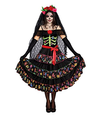 Dreamgirl womens Lady of the Dead Adult Sized Costume, Multi, Large US