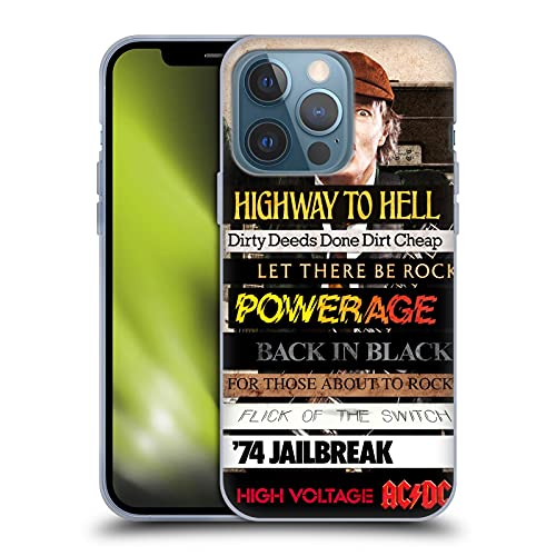 Head Case Designs Officially Licensed AC/DC ACDC Album Titles Collage Soft Gel Case Compatible with...