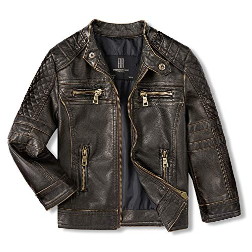Budermmy Jackets for Boys Faux Leather Toddler Girls Motorcycle Jackets Kids Coats Waterproof and...