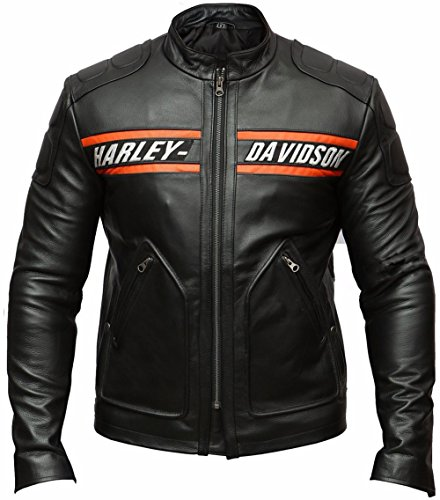 Goldberg Motorcycle Screaming Eagle Black HD Cow Leather Jacket (XL / Body Chest = 44' Between 46')