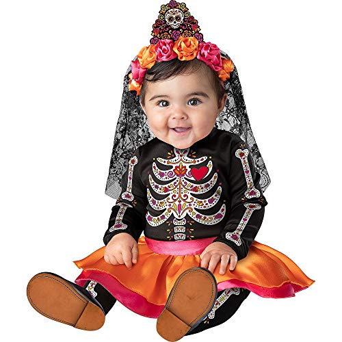 Fun World Easter Unlimited Sugar Skull Sweetie Halloween Costume for Babies, 6-12M, Includes Dress,...