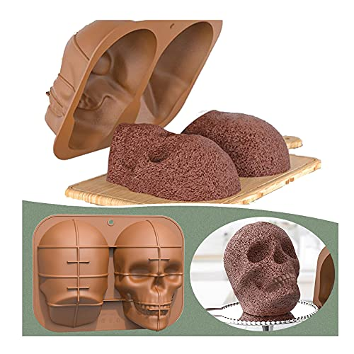Large Skull Head Mask Baking Cake Mold DIY, Skull Silicone Mold for Chocolate Candy Cake Jelly,...