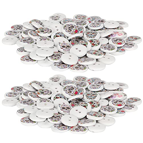 Painted Button, Sewing Accessories White Background 15mm Button DIY Button Decor for Crafts Making...