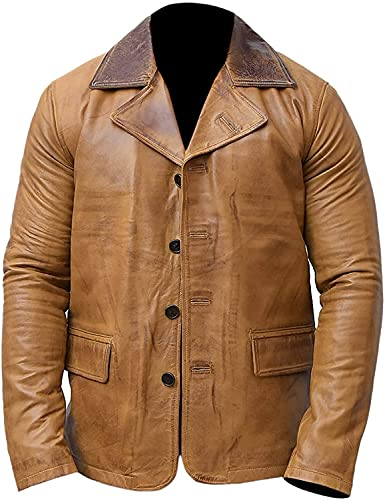 Red Redemption 2 Dead Arthur Morgan Tan Brown Genuine Cow Leather Coat Jacket (small)