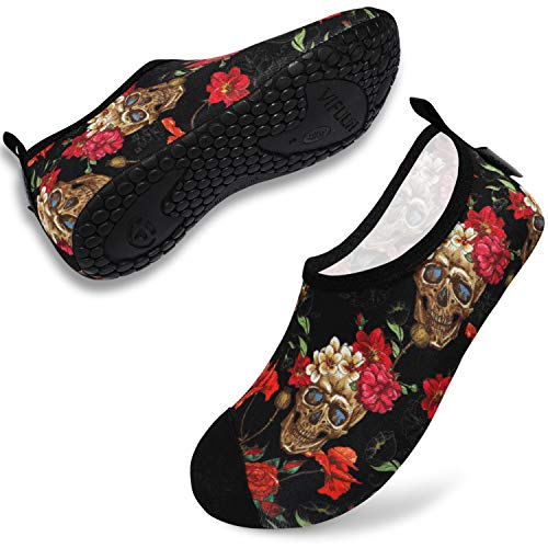 VIFUUR Womens Mens Water Shoes Barefoot Yoga Shoes Quickly Dry Aqua Shoes for Outdoor Snorkeling...