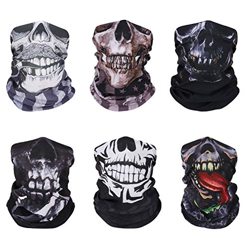 MoKo Face Mask for Cold Weather [6 Pack], Neck Gaiter Shield Scarf Elastic Seamless Balaclava...