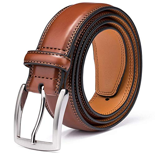 Men's Genuine Leather Dress Belt with Premium Quality - Classic & Fashion Design for Work Business...