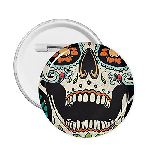Decorate Buttons Sugar Skull Badges Pinsbrooches Craft Supplies Round Pack Button