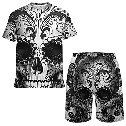 Summer Short Sleeve T-shirt and Shorts for Boys Teens, Breathable and Moisture Wicking Mesh Tee...