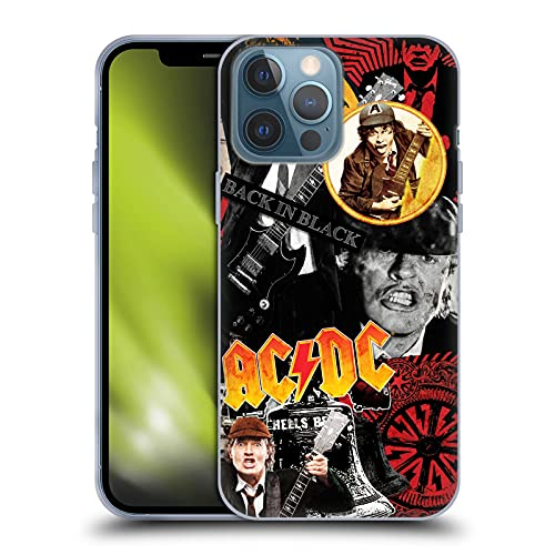 Head Case Designs Officially Licensed AC/DC ACDC Angus Young Collage Soft Gel Case Compatible with...