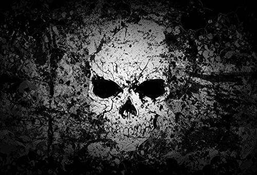 Yeele 5x3ft Halloween Backdrop Shabby Skull Wall Photography Background for Pictures Party Banner...