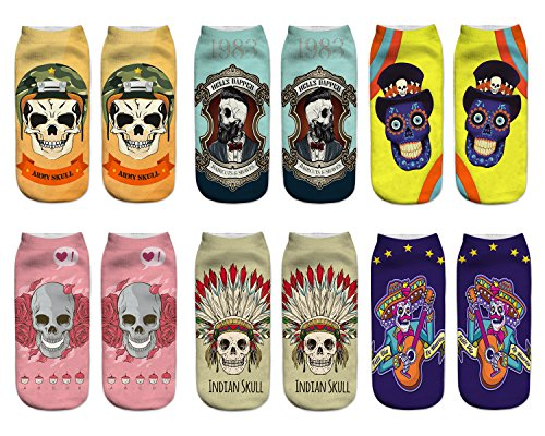 Benefeet Sox Funny Crazy Ankle Socks for Women Girls Fun Cute Silly 3D Print Graphics Chracter...
