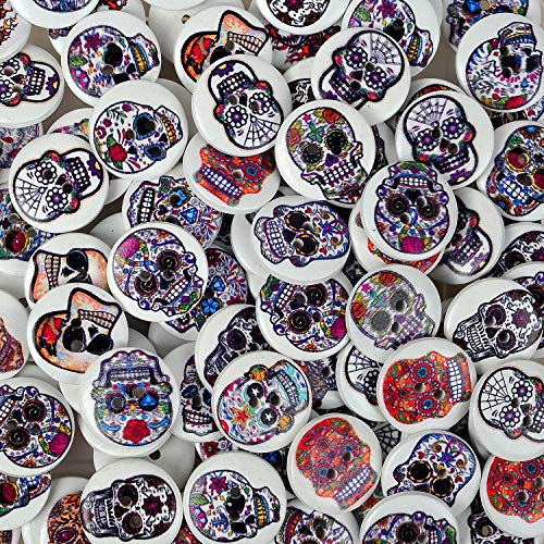 200-pack 20mm Painted Wooden Buttons for Craft Swing | Natural Wood | Bulk Lots|Assorted Random|...