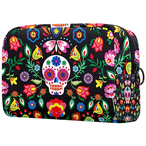 Makeup Cosmetic Bag Coin Purse Travel Cosmetic Pouch Toiletry Bag sugar skull